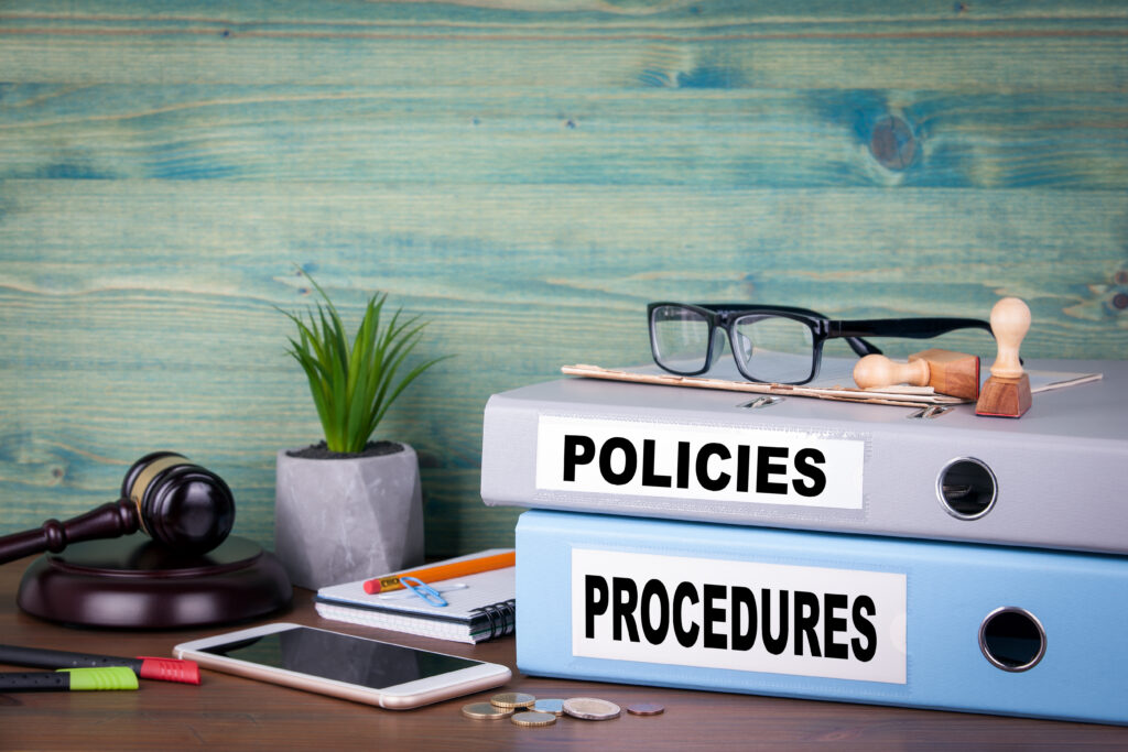 policy and procedure sign