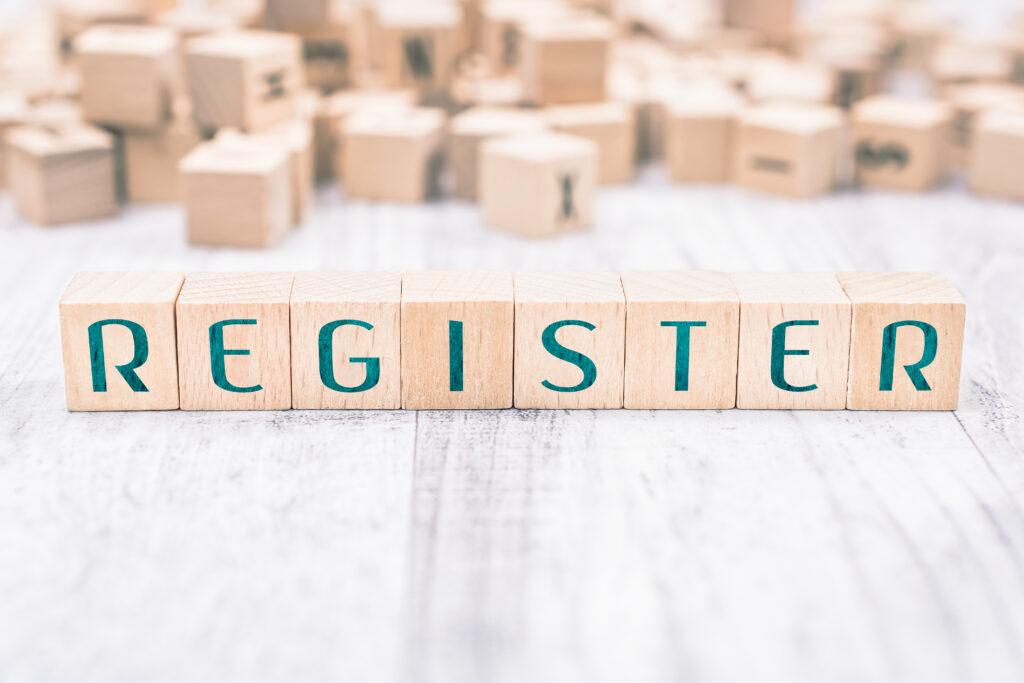 register sign