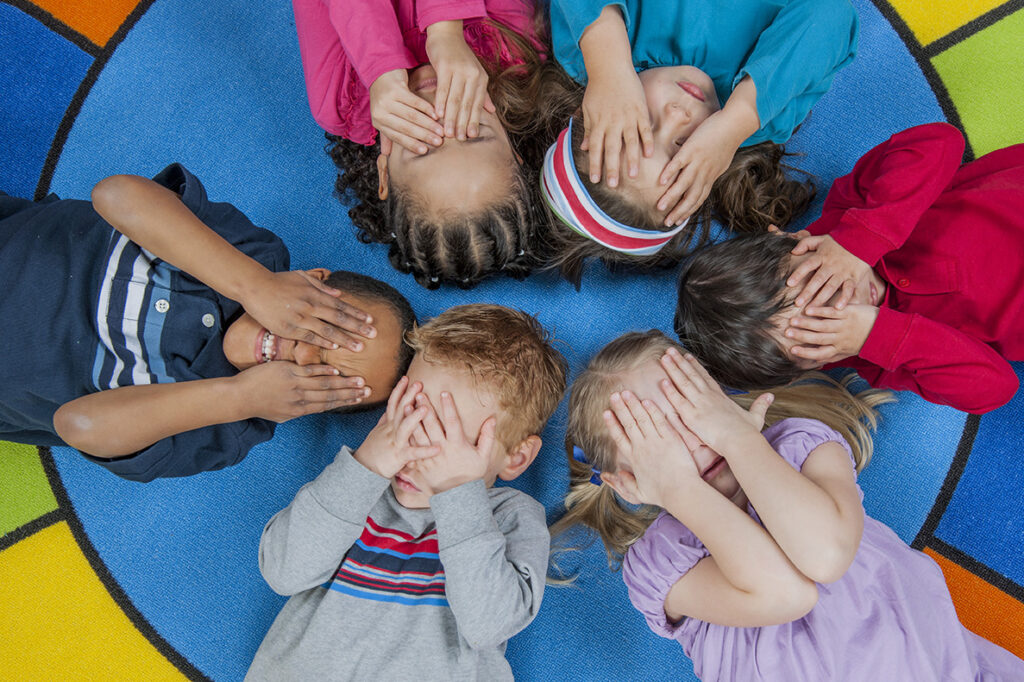 Children at a public child care program in Toronto